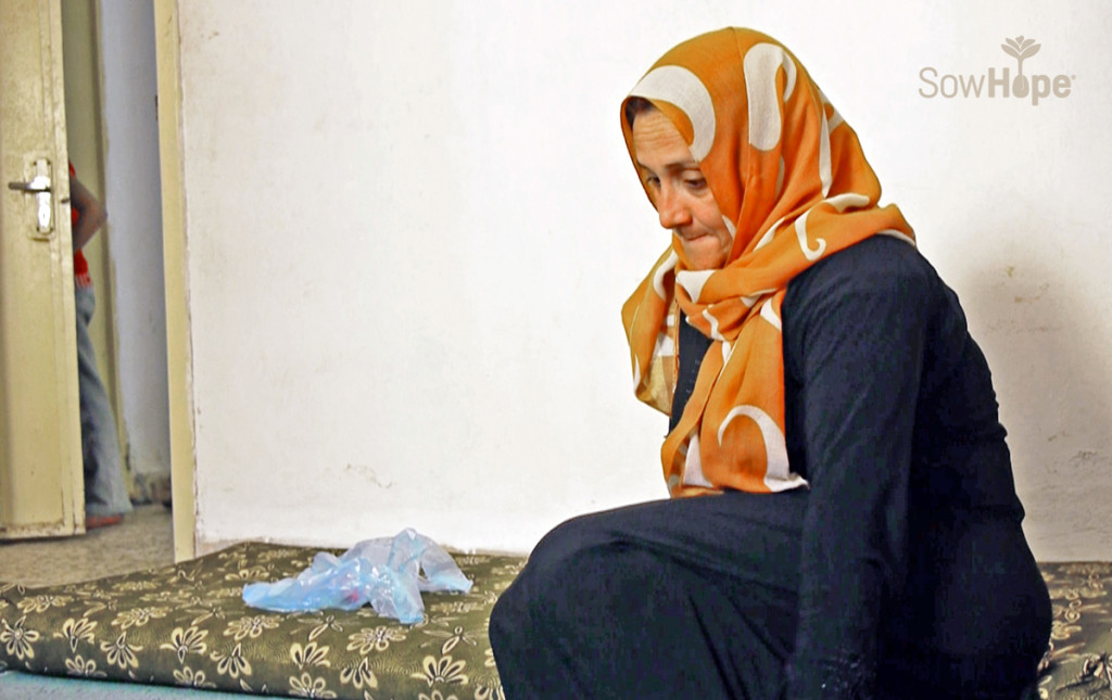 Syrian woman refugee.