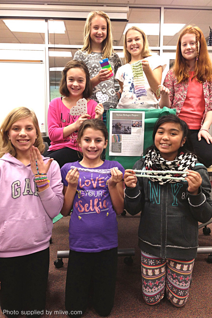 Students raising money.